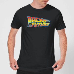 Back to the Future Classic Logo T-shirt - Zwart