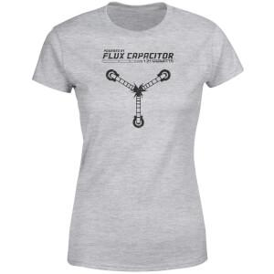 T-Shirt Femme Retour vers le Futur - Rechargé par le Convecteur Temporel - Gris