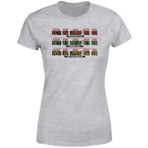 T-Shirt Femme Retour vers le Futur - Vers l'Horloge - Gris