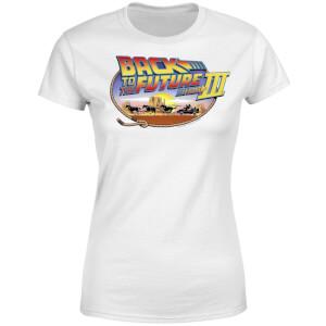 T-Shirt Femme Retour vers le Futur - Lasso - Blanc