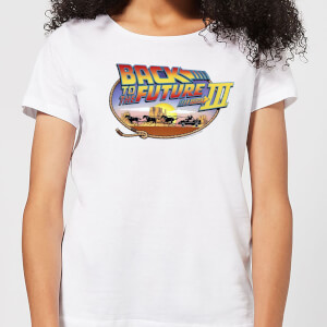 Back to the Future Lasso Dames T-shirt - Wit