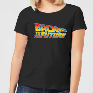 Back To The Future Classic Logo Women's T-Shirt - Black