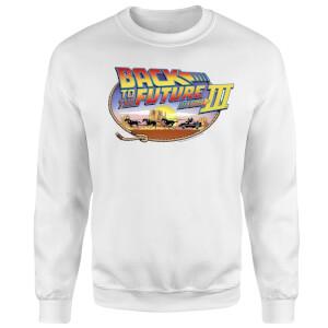 Back To The Future Lasso Sweatshirt - White