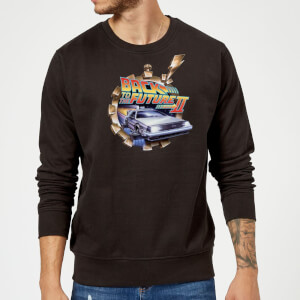 Back To The Future Clockwork Sweatshirt - Black