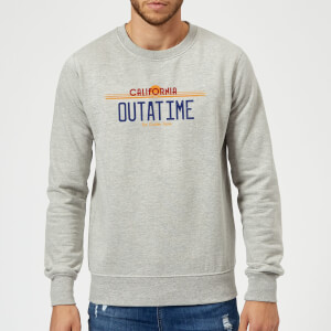 Back To The Future Outatime Plate Sweatshirt - Grey