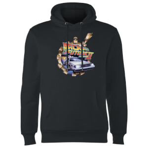 Back to the Future Clockwork Hoodie - Zwart