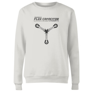 Back To The Future Powered By Flux Capacitor Women's Sweatshirt - White