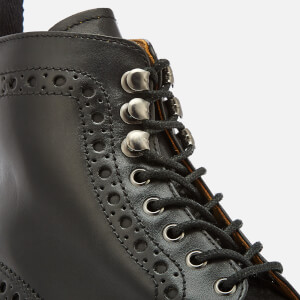 Grenson Men's Fred Leather Commando Sole Lace Up Boots - Black: Image 4