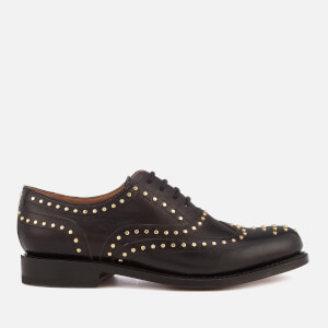 Grenson Women's Rowena Glace Kid Leather Oxford Shoes - Black