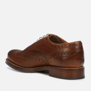 Grenson Men's Stanley Hand Painted Grain Leather Brogues - Tan: Image 2