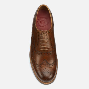 Grenson Men's Stanley Hand Painted Grain Leather Brogues - Tan: Image 3