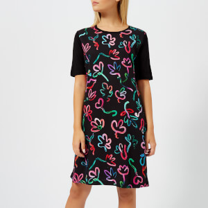 PS by Paul Smith Women's Acapulco Print T Dress - Black