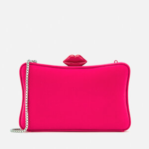 Lulu Guinness Women's Velvet Lavinia Clutch Bag - Hot Pink