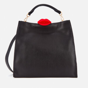 Lulu Guinness Women's Large Locked Lips Anita Tote Bag - Black