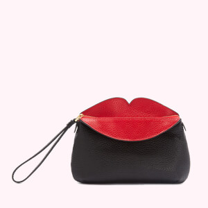 Lulu Guinness Women's Peekaboo Lip Clover Clutch Bag - Black