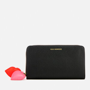 Lulu Guinness Women's Hearts and Lips Continental Wallet - Black