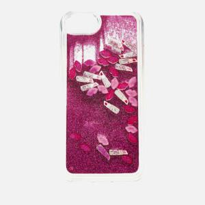 Lulu Guinness Women's Glitter Lip and Lipstick iPhone Case - Clear/Multi