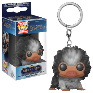 Llavero Pocket Pop! Escarbato Bebé Blanco Y Negro - Animales Fantásticos Y Dónde Encontrarlos