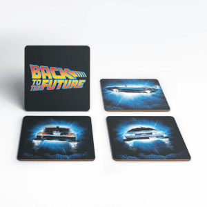 Back To The Future Delorean Time Machine Coaster Set