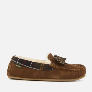 Barbour Women's Sadie Suede Mocassin Slippers - Camel