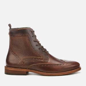 Barbour Men's Belford Leather Brogue Lace Up Boots - Mahogany