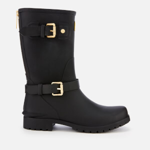 Barbour International Women's Monza Buckle Biker Wellies - Black
