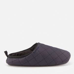 Barbour Men's Guthrie Quilted Fleece Lines Slippers - Navy