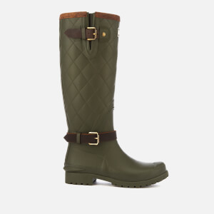 Barbour Women's Lindisfarne Quilted Tall Wellies - Olive