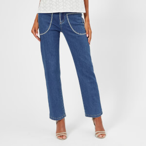 See by Chloe Women's Stone Wash Jeans - Shady Cobalt