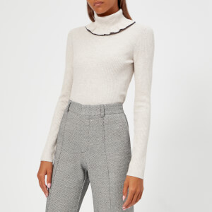 See By Chloé Women's High Neck Jumper - White Powder