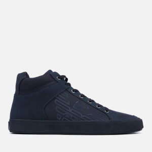 Emporio Armani Men's Mid Top Trainers - Night/Night