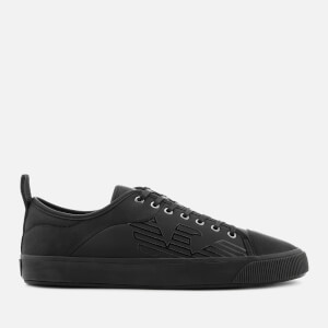 Emporio Armani Men's Low Top Trainers - Black/Black