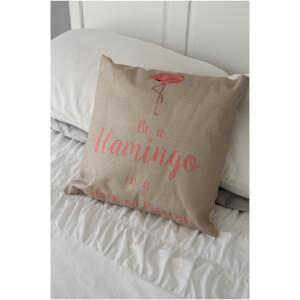 Black Ginger Flamingo Cushion