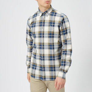 Barbour International Men's Spiral Long Sleeve Shirt - Dark Denim