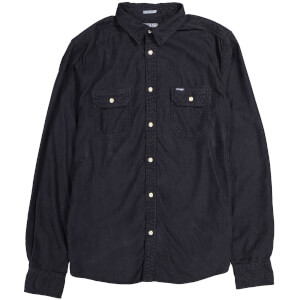 Wrangler Men's 2 Pocket Micro Cord Shirt - Dark Navy