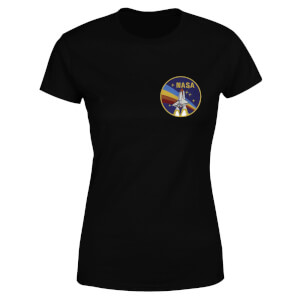 NASA Vintage Rainbow Shuttle Women's T-Shirt - Black
