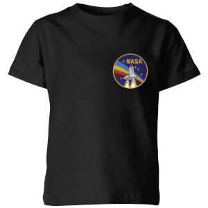NASA Vintage Rainbow Shuttle Kinder T-Shirt - Schwarz