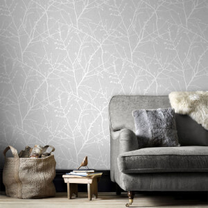 Superfresco Easy Grey Innocence Floral Wallpaper