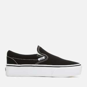 Vans Women's Classic Platform Slip-On Trainers - Black