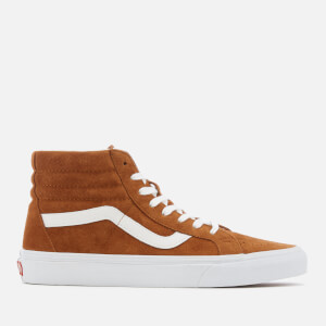 Vans Men's Sk8-Hi Reissue Suede Trainers - Leather Brown/True White