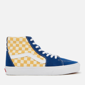 Vans Men's Sk8-Hi BMX Checkerboard Trainers - True Blue/Yellow