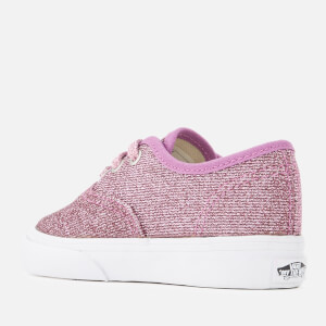 Vans Toddlers' Authentic Lurex Glitter Trainers - Pink/True White: Image 2