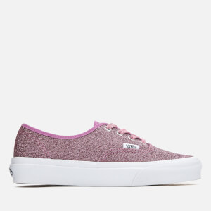 Vans Women's Authentic Lurex Glitter Trainers - Pink/True White