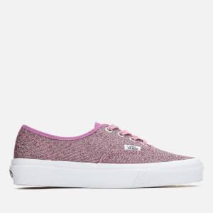 Vans Women's Authentic Lurex Glitter Trainers - Pink/True White: Image 1