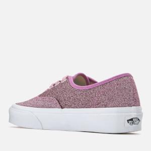 Vans Women's Authentic Lurex Glitter Trainers - Pink/True White: Image 2