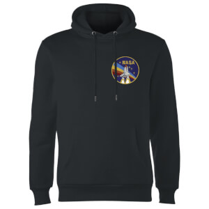 NASA Vintage Rainbow Shuttle Hoodie - Black