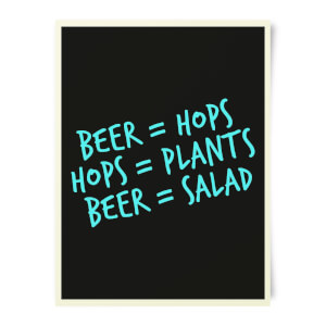 Beershield Beer Salad Art Print