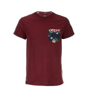 Threadbare Men's Tiki Pocket T-Shirt - Burgundy