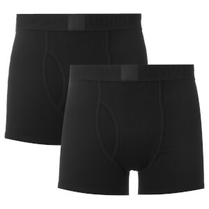 Ringspun Men's 2 Pack Boxers - Black