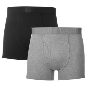Ringspun Men's 2 Pack Boxers - Black/Grey